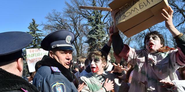 Zeventien doden door brand in bejaardenhuis in Oekraïne