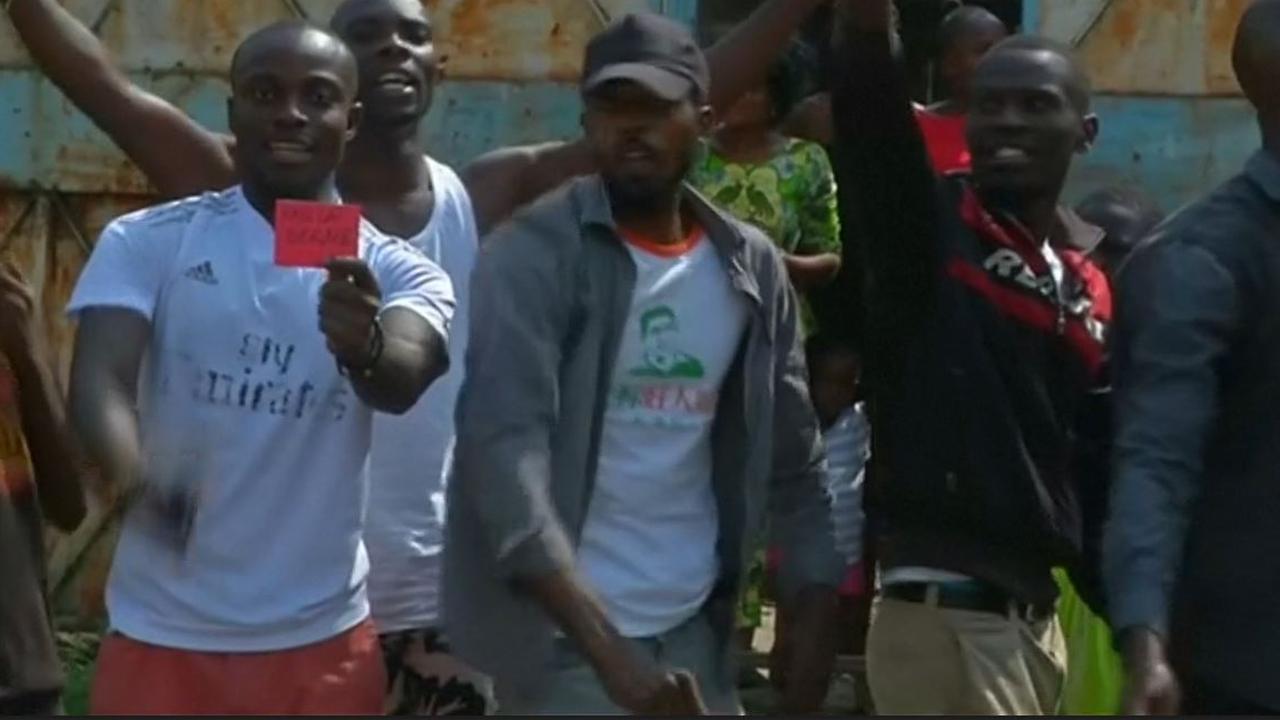 Congolese betogers roepen president Kabila op te vertrekken