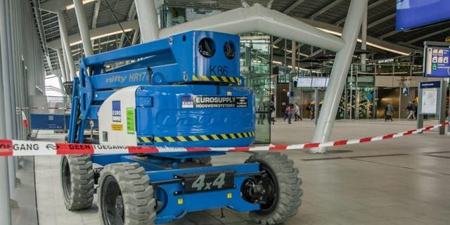 Uppie nieuwe naam van vergeten hoogwerker op station Utrecht Centraal