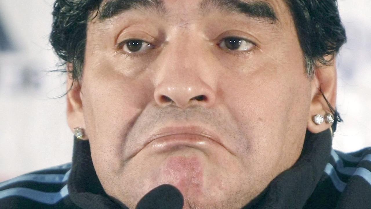 Maradona en zijn opmerkelijke gedrag van de laatste jaren