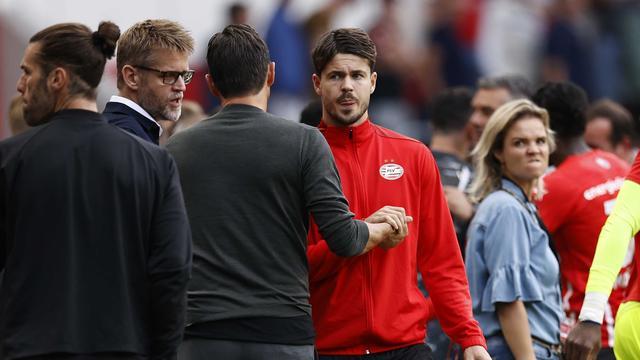 PSV-aanvoerder Marco van Ginkel staat weer in de basis nadat hij tegen Feyenoord de hele wedstrijd op de bank bleef.