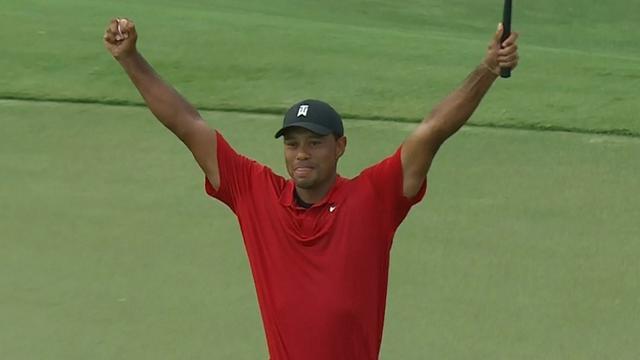 Tiger Woods boekt eerste toernooizege in vijf jaar