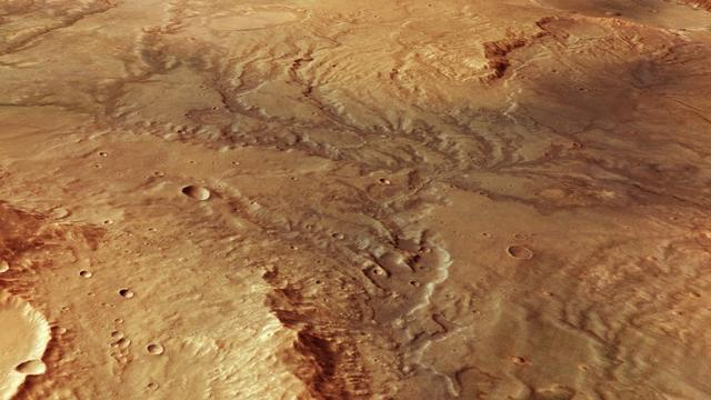 Nieuw onderzoek toont bewijs voor stromend grondwater op Mars