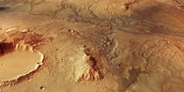 Nieuwe satellietfoto's tonen sporen van voormalige waterstromen op Mars