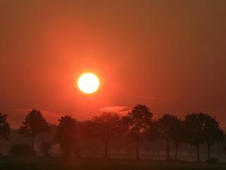 Kijker voor het eerst gebruikt bij zonsopkomst
