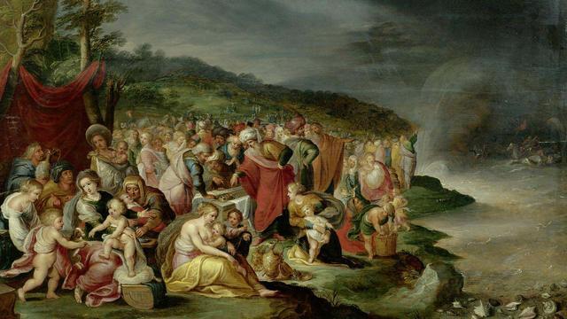 Beeld uit de Kunstbijbel, een speciale editie van de Nieuwe Bijbelvertaling.