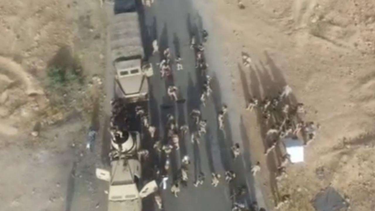 Dronebeelden tonen opmars Syrische leger naar Raqqa