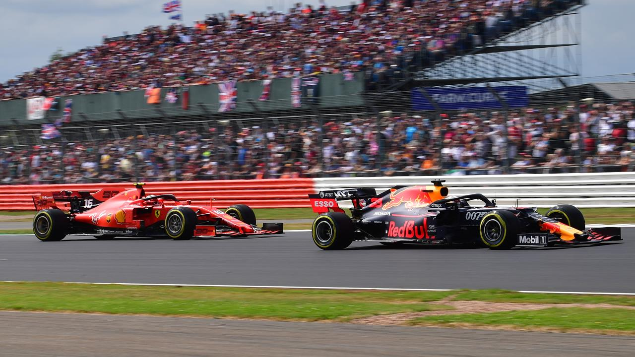 Image result for leclerc verstappen silverstone