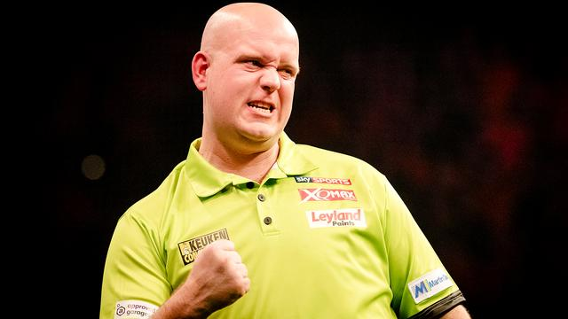 Van Gerwen klopt Cross en treft Taylor in halve finales Grand Slam of Darts