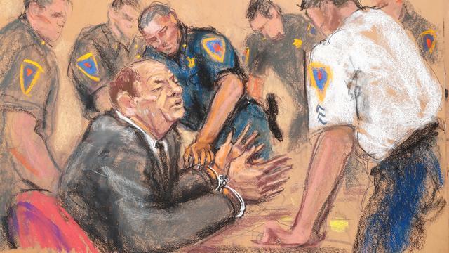 Weinstein na veroordeling met hartkloppingen opgenomen in ziekenhuis