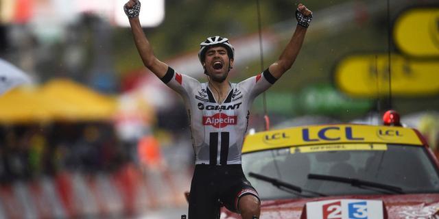 Dumoulin soleert naar zege in zware bergetappe Tour de France