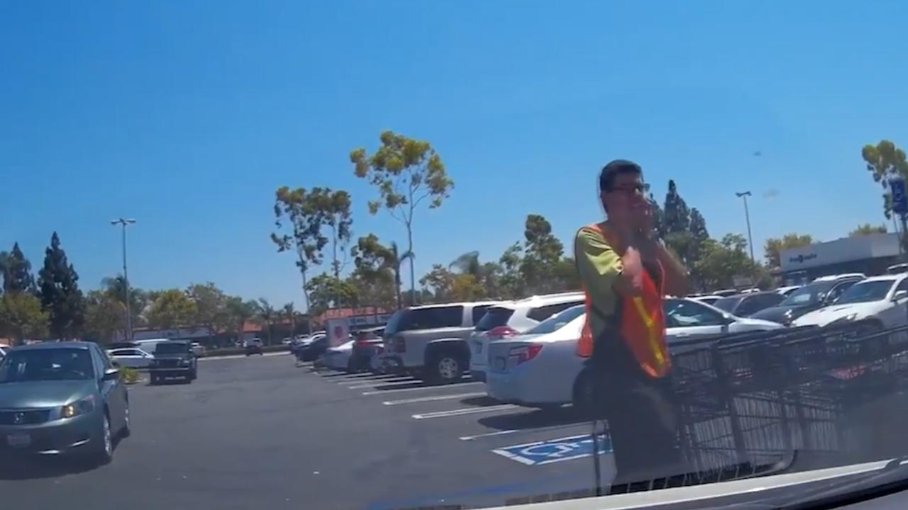 Dashcam filmt vliegtuigcrash in Californië