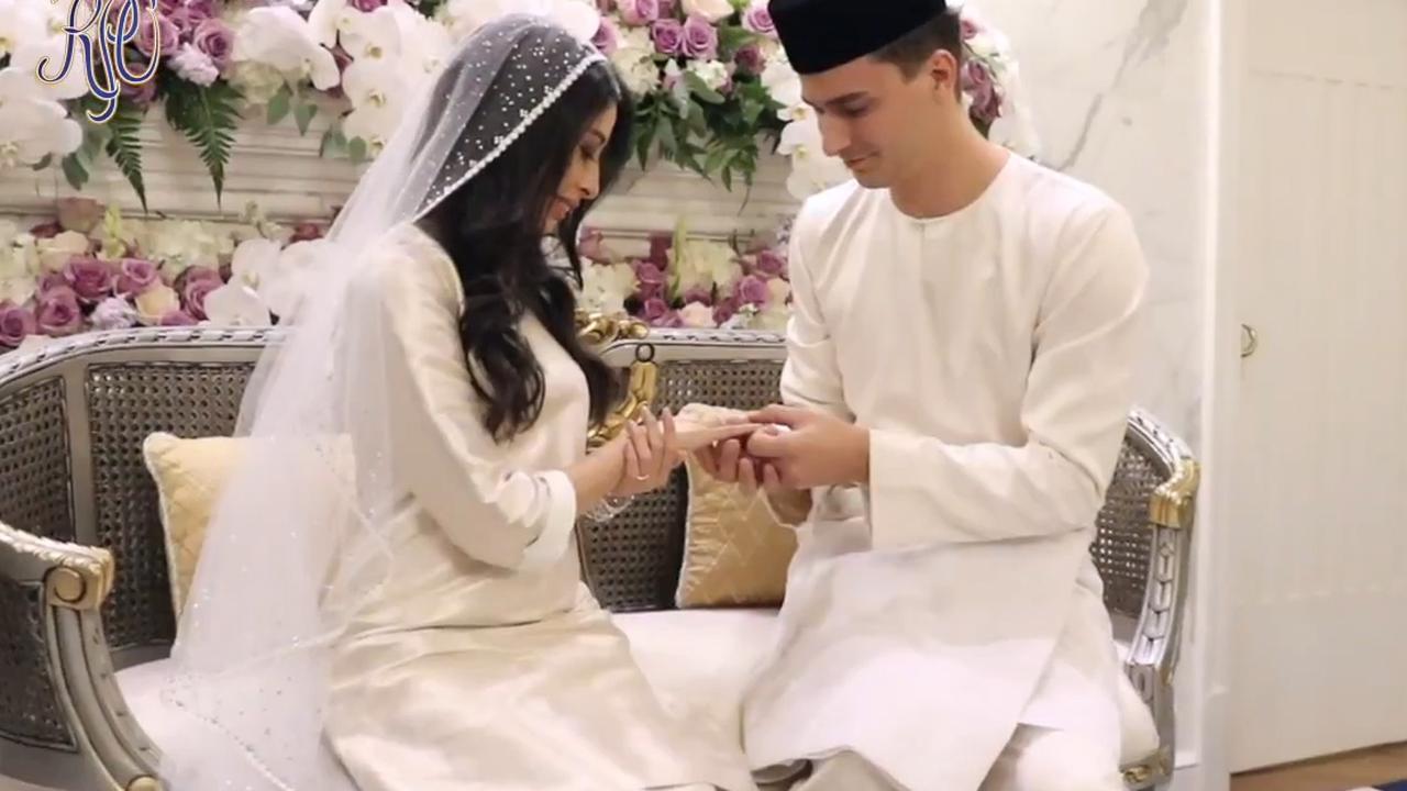 Eerste beelden van huwelijk Nederlander met Maleisische prinses