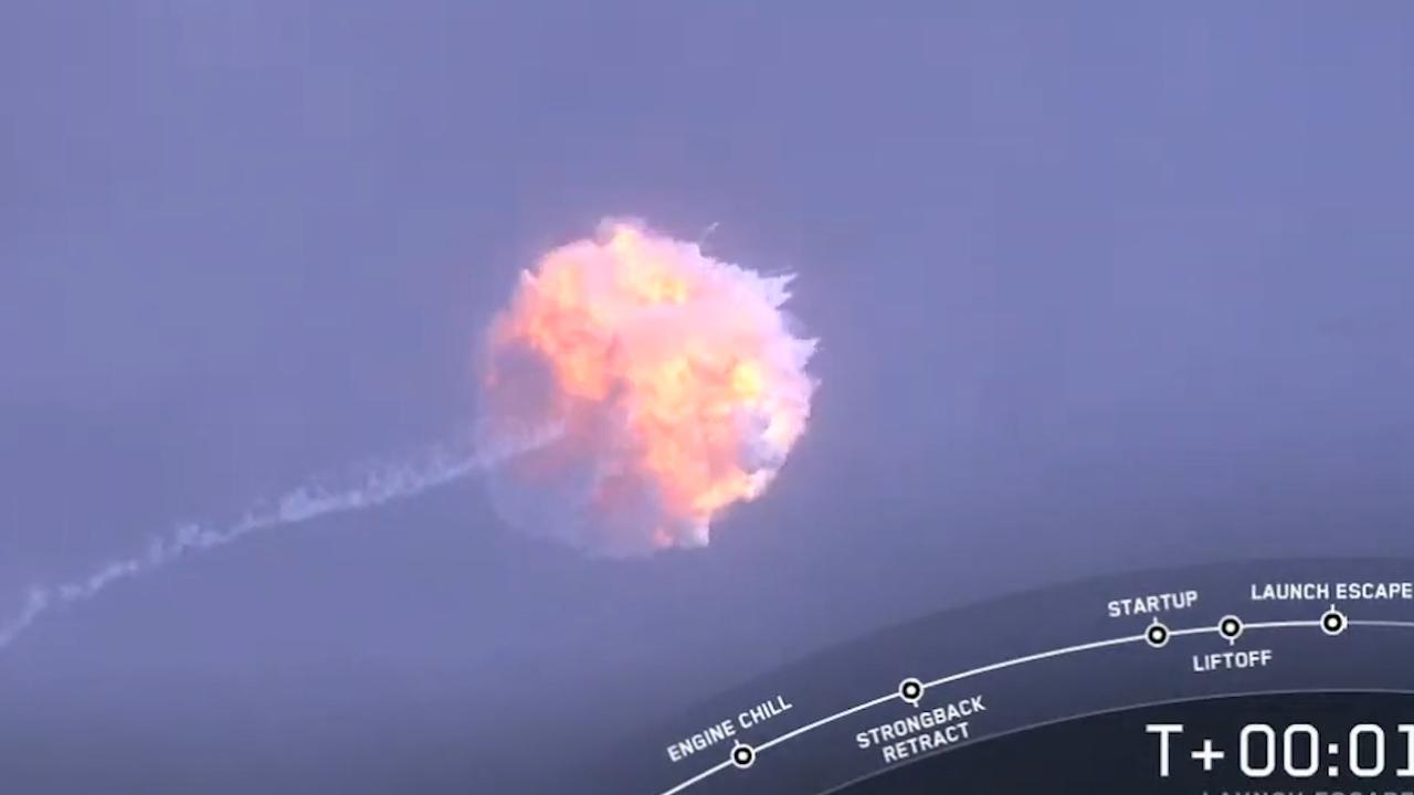 SpaceX laat raket van ruimtecapsule Crew Dragon exploderen als test