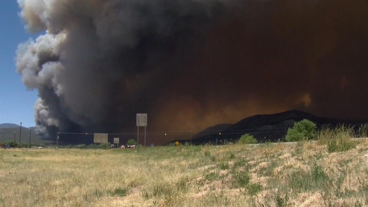 Enorme bosbrand verwoest land in New Mexico en Colorado