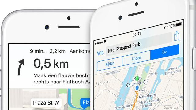 Apple bouwt kaartendienst Maps helemaal opnieuw