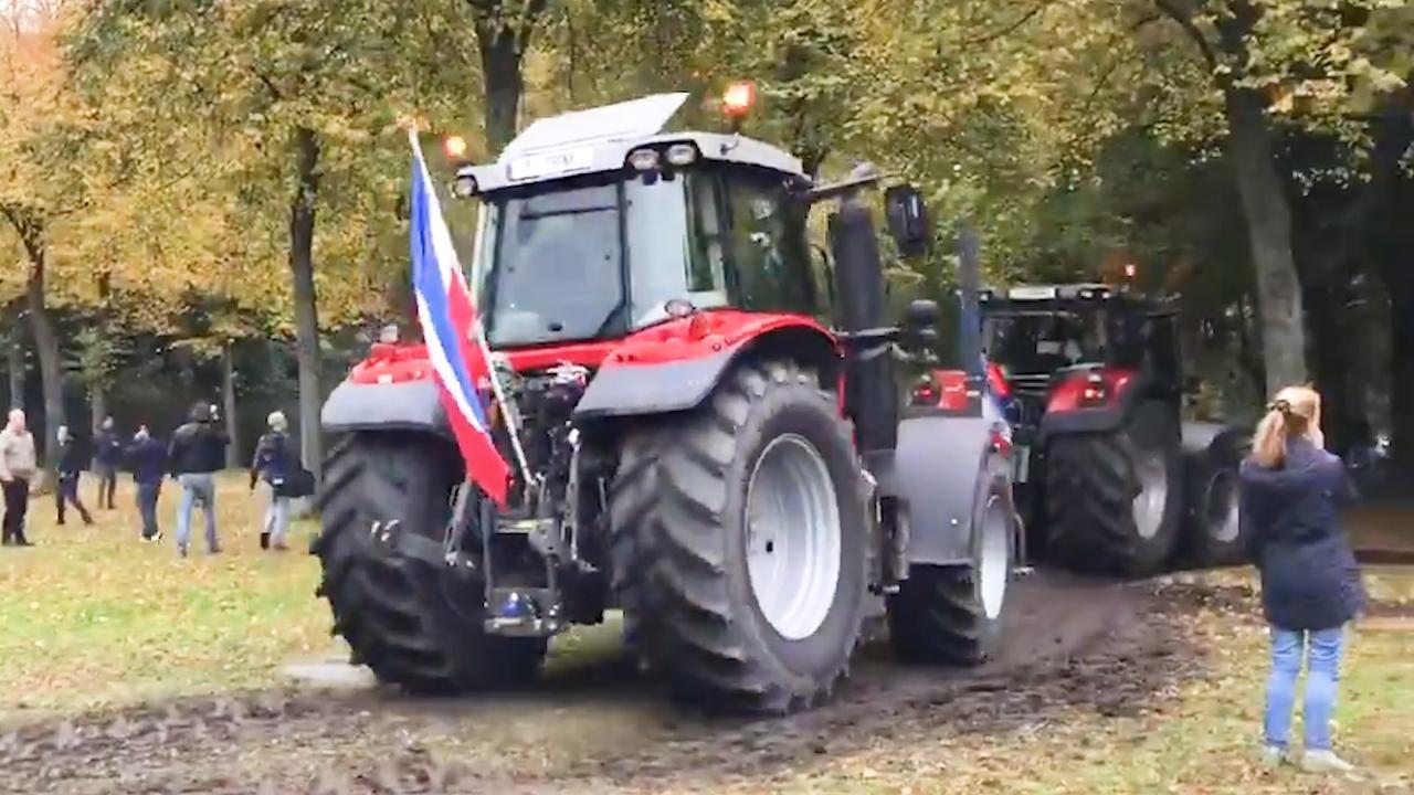 Boeren rijden weer Malieveld op bij het tweede landelijke protest