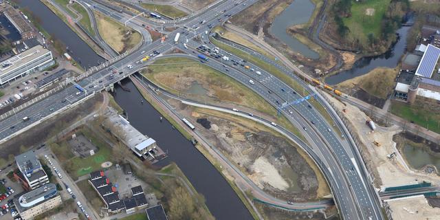 Voorbereidingen sloop noordzijde viaduct Paterswoldseweg van start