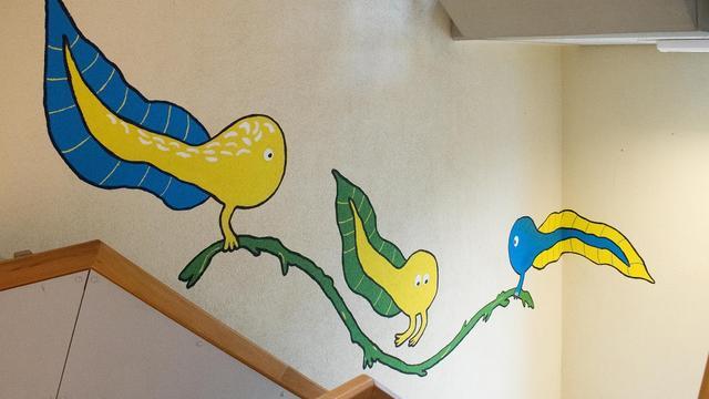 Wandschilderingen moeten medewerkers UMCG stimuleren trap te nemen