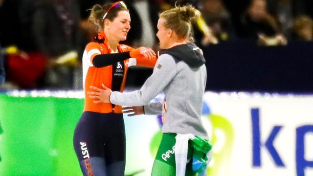 Wüst treft vriendin Letitia de Jong op eerste 500 meter bij NK sprint