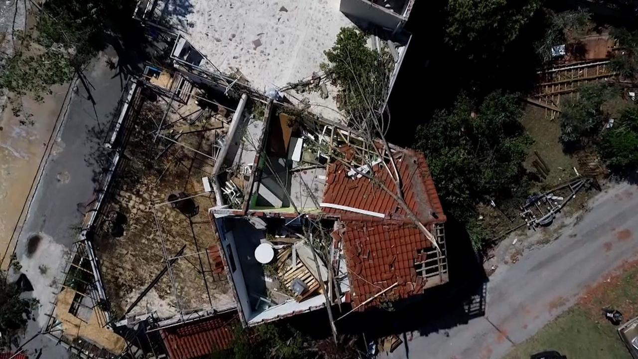 Dronebeelden tonen ravage na noodweer in Griekenland