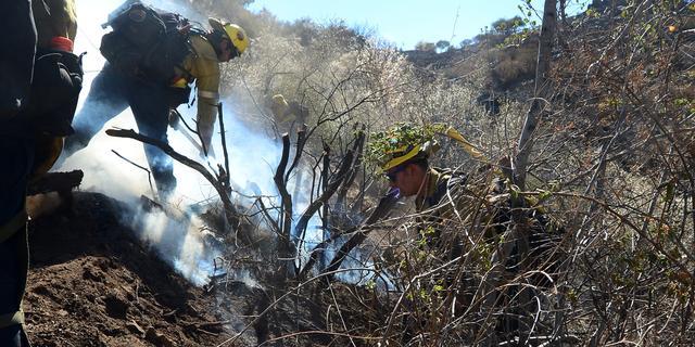 Bosbrand Californië breidt zich uit