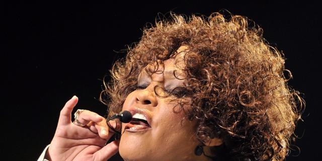 Graf Whitney Houston wordt bewaakt