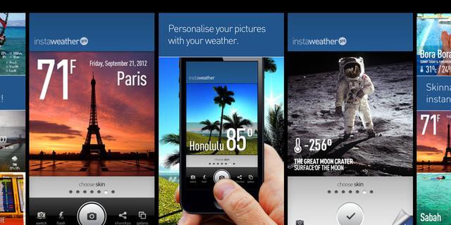 Instaweather ook beschikbaar voor Windows Phone