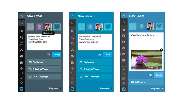 Tweetdeck rolt nieuw tweetvenster uit