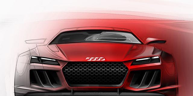 Eerste schetsen Audi Quattro