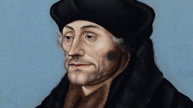 Portret Erasmus naar Boijmans van Beuningen