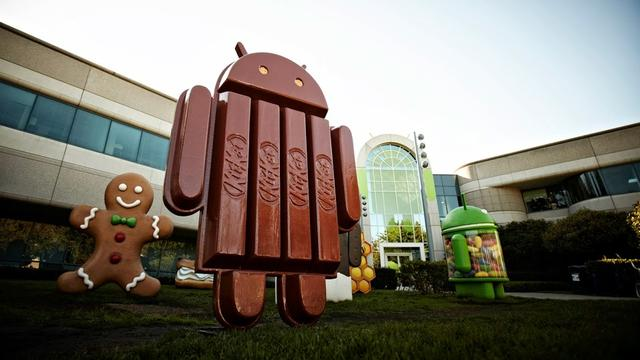 Aandeel Android-versie Kitkat groeit flink