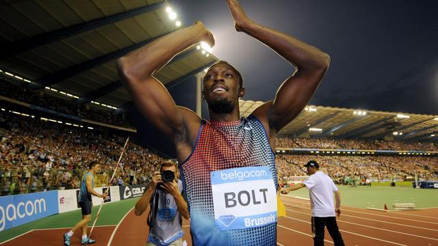 Bolt snelt naar toptijd op 100 meter in Brussel