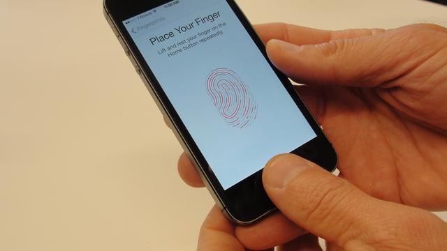 Vingerafdruk iPhone 5S wordt als databestand opgeslagen