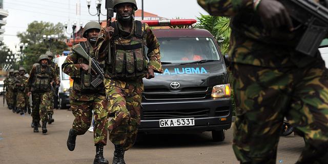 Opnieuw schoten en explosie gehoord in Nairobi