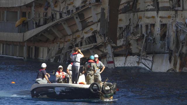 Duiker doodgebloed tijdens berging Costa Concordia