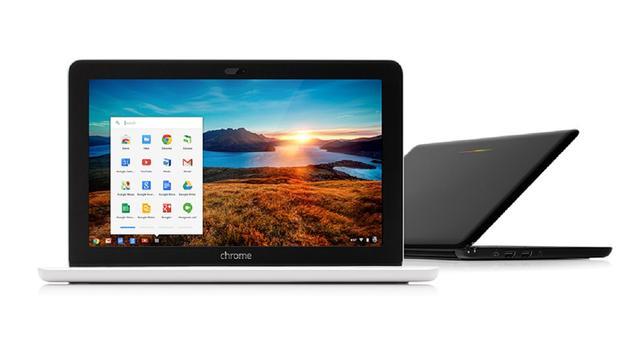 Chromebook 11 van HP gebruikt smartphonelader