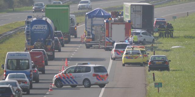 Gewonden door ongeval op A2 bij Weert