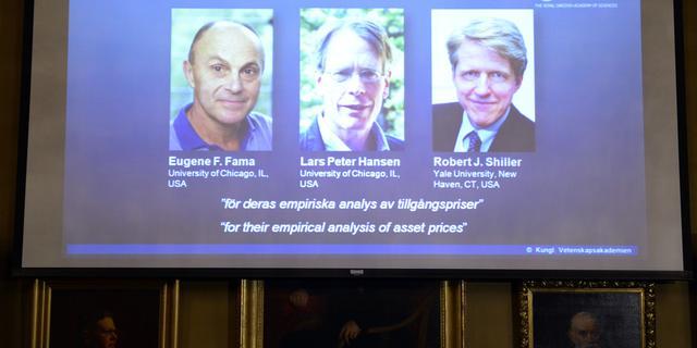 Nobelprijs Economie naar Fama, Hansen en Shiller