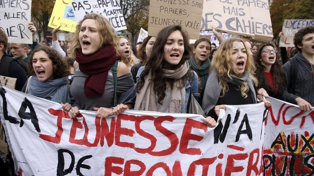 Weer Frans scholierenprotest tegen asielbeleid
