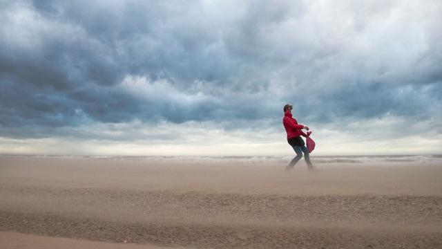 Storm langs Nederlandse kust