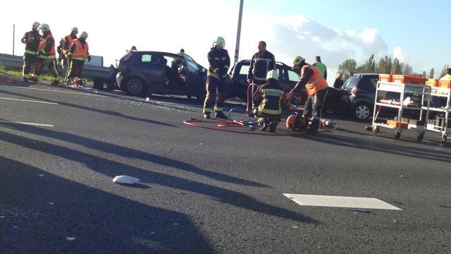 Ongeval met drie auto's op A12