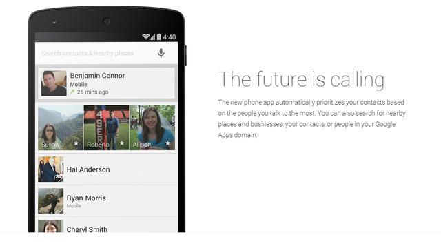 Telefoon-app Android 4.4 kan advertenties tonen