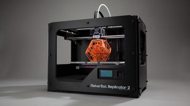3d-printer Makerbot print hout- en metaalachtige producten