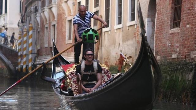 Google zet kanalen van Venetië op Street View