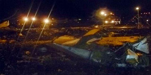Vliegtuig Kazan stortte loodrecht naar beneden