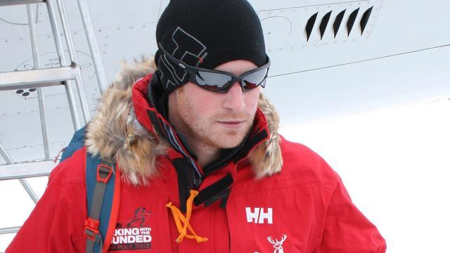 Prins Harry had last van hoogteziekte op Zuidpool