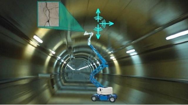 Robot scant tunnels snel en nauwkeurig op scheuren
