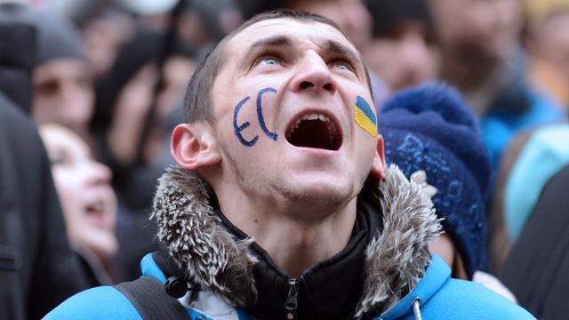 Duizenden demonstranten Kiev eisen vertrek president