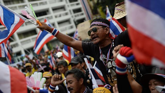 Tegenstanders Thaise regering blijven betogen